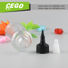 manufacturer twist top cap PET 30ml 60ml 120ml plastic bottle