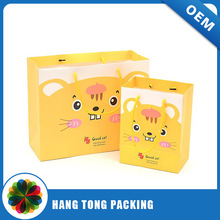 High Quality Printing Paper Shopping Bag with Twist Tie