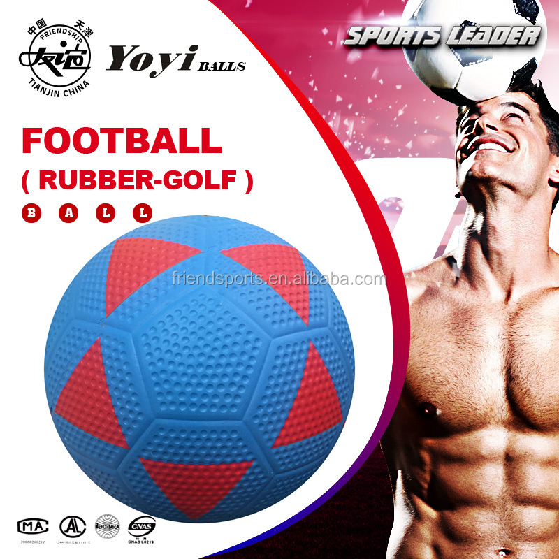 rubber ( GOLF body ) football size 5 400g good natural rubber with nice popular ( triangle ) design soccer ball