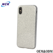 Free sample mobile covers imd custom tpu printing cell bling liquid glitter phone case for iphone x