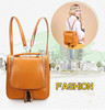 1# New Arrival Wholesale Price Plain Genuine Leather Travel Backpack