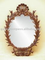 SHELL OVAL CARVING MIRROR