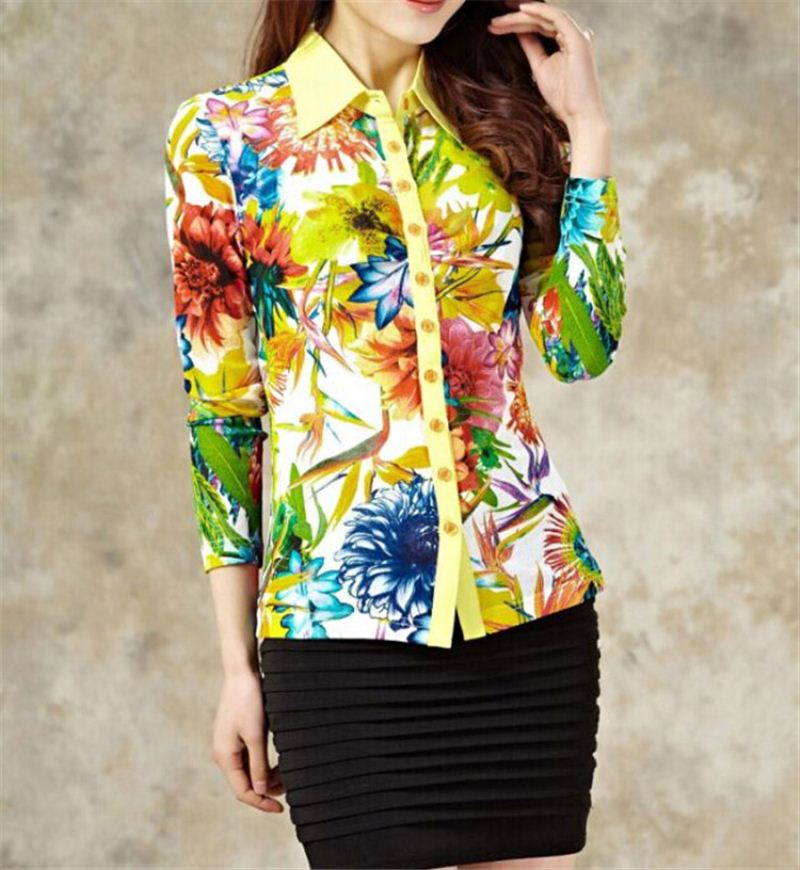 HOT SALE good quality womens long sleeve shirts with good prices
