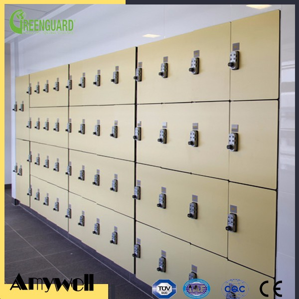 Amywell customized durable wateproof 12mm laminate Formica hpl rfid locker gym