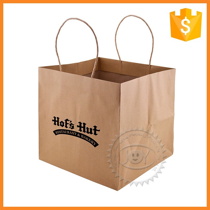 Customized wholesale automatic flour packaging paper bag with handle