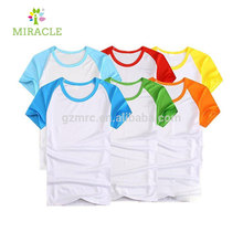 wholesale cheap custom blank scoop neck t shirt for sublimated printing 160g