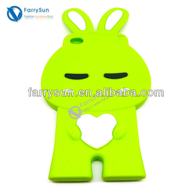 2013 New Design Rabbit Ear Silicone Mobile Phone Case Animal Shaped Phone Cases