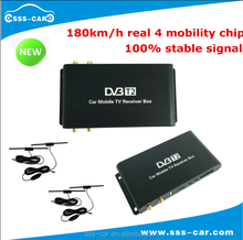 180km/h High speed car dvb t2 digital tv receiver tuner with 4 antenna tuner