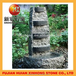 natural garden granite water rain curtain,cascade garden fountains