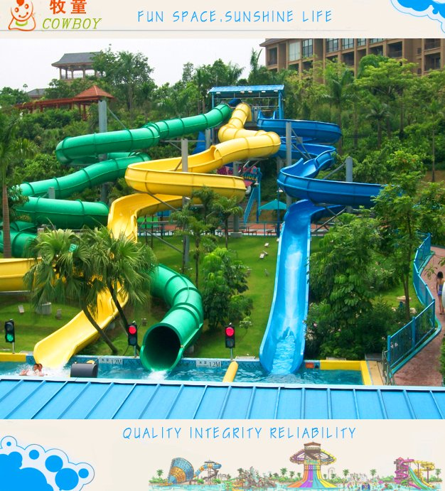 2016 Exciting Fiberglass Water Slides for Sale