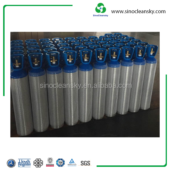 200bar 2L Aluminium Empty CO2 Argon Gas Prices Low Cylinder for Sale