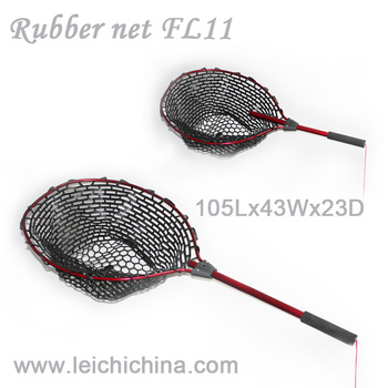 Aluminium frame extendable handle rubber telescopic for Telescoping fishing net