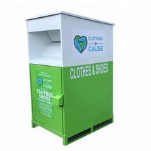 Manufacture Large Capacity Donation Bins Charity With Lock Key clothing recycling bin