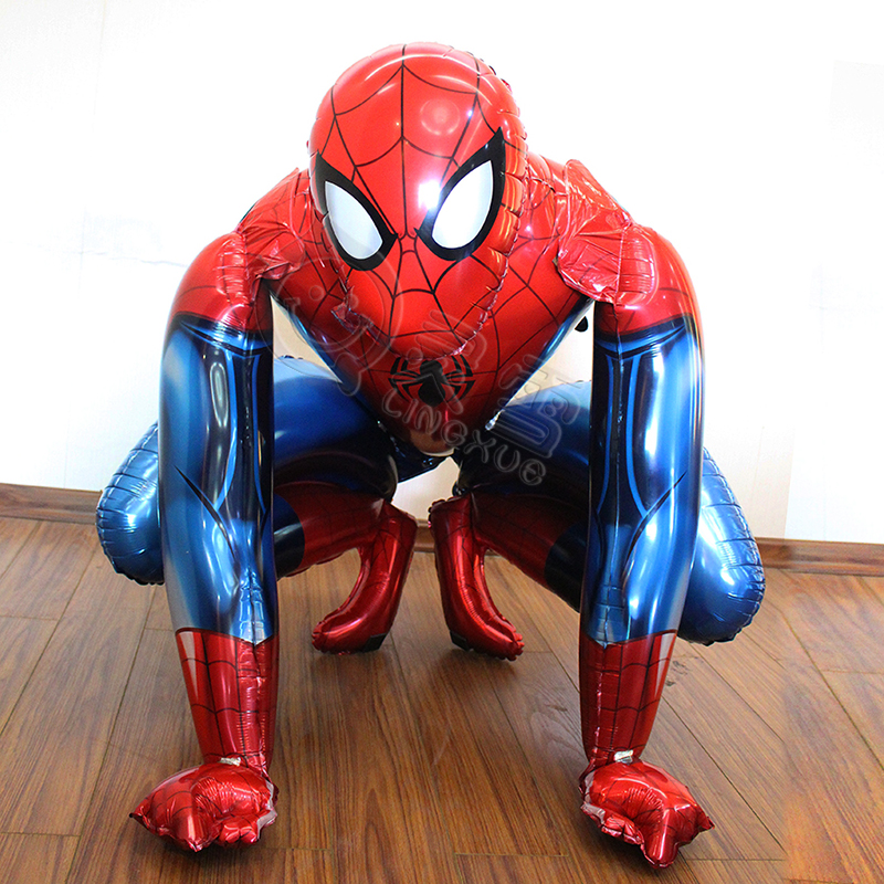 Super Large 91*91cm Anagram Spiderman Foil Balloon Kids Inflatable Toys Helium Giant Balloon