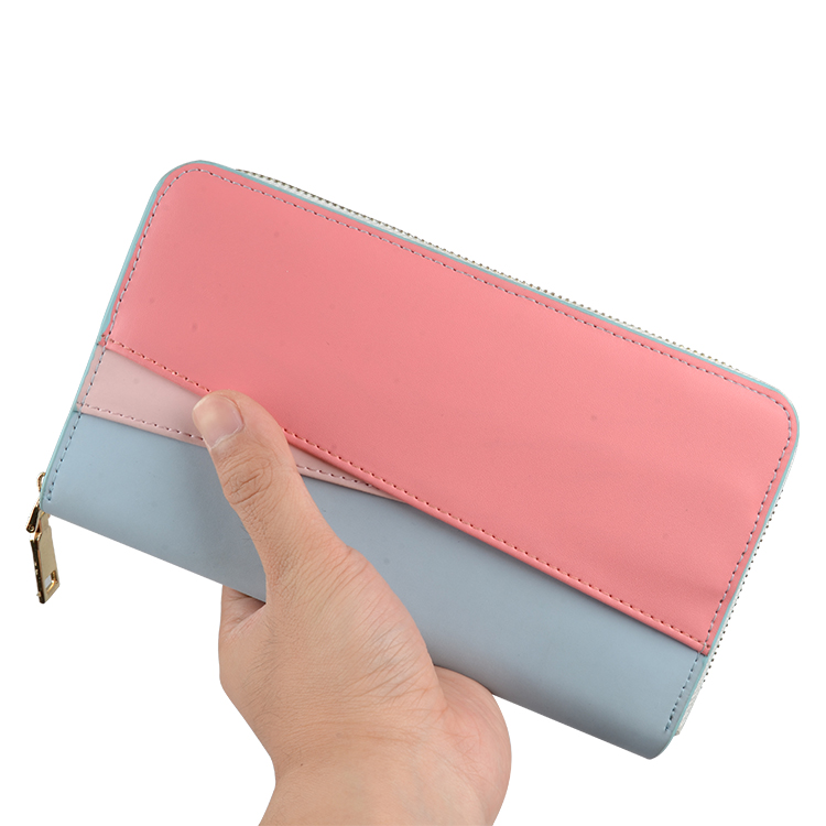 2018 2000mah Leather Wireless Charging Wallet with Power Bank