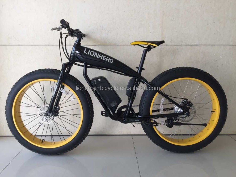 aluminum alloy mountain fat e bike/ snow electric bicycle/fatbike factory