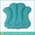 terry cloth inflatable bath pillow with suction cups