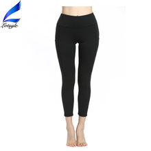 Lotsyle Side Lace Tied Wholesale Athletic Legging Women Yoga Pants with Pockets