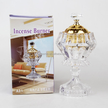 2016 new design glass diamond-shape incense burner arabic burner