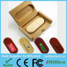 Promotional Gift Custom Logo Wedding Gift Wooden Usb Flash Drive With Box