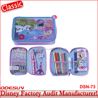Disney factory audit manufacturer's cartoon stationery set in pencil bag for gift 15120048