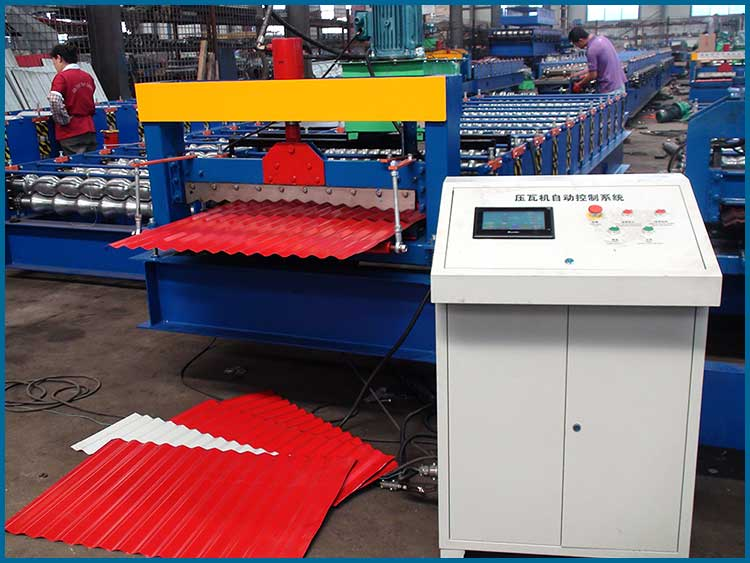 corrugated roof sheet making machine