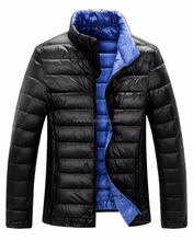 men's casual classic winter quilted puffy padded down jacket