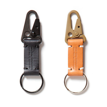 Hot Sale Promotional Real Leather Metal Carabiner Key Chain