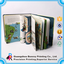 Custom hardcover childrens picture laminated child book printing