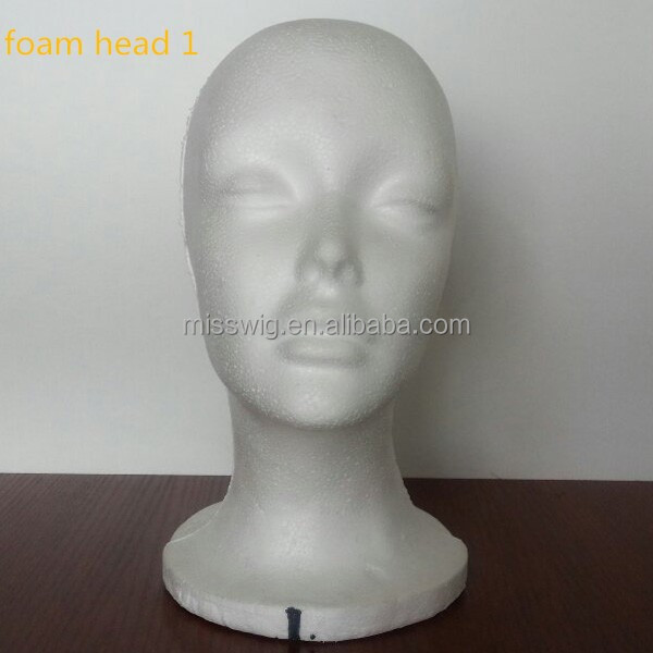 Foam Head Model Display Mannequin Head Foam Mannequin Head