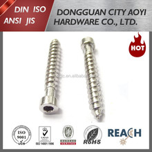 Stainless steel self tapping screw all threaded cap head hex socket screw