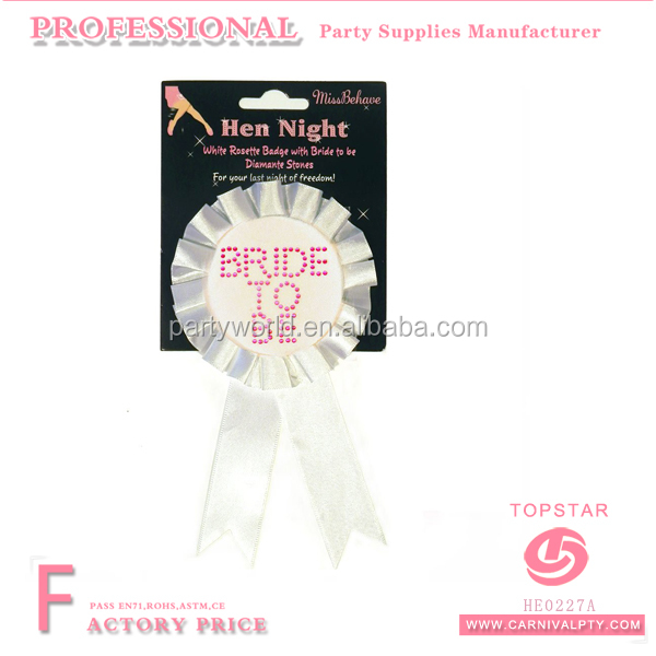 new 2016 product idea Bride To Be Badge Rosette