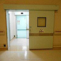 Automatic airtight stainless steel sliding rubber seal Hospital Doors