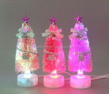 7 ft Christmas Optic Fiber Tree With Star & Ribbons with USB and Battery as Table Decoration