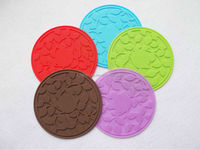 silicone glass coaster heat resistant silicone cup coaster silicone drinking glass coaster