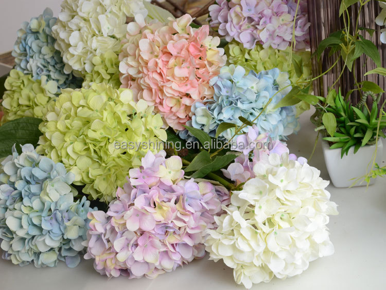 yiwu cheap hydrangea artificial silk <strong>flower</strong> ESA0024