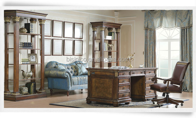 Antique Classical Home Office Furniture,American Retro Furniture With  Executive Desk U0026 Chair U0026 Bookcase