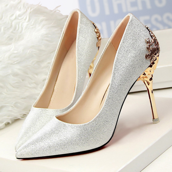 SH 8001 2016Fashion Shallow mouth suede lady high heel woman