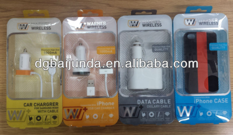 plastic blister mobile accessories packaging, iphone packing, cell package