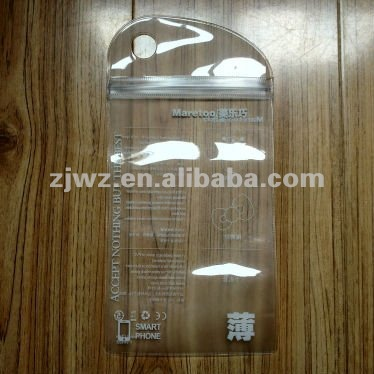clear vinyl pvc zipper cell phone waterproof bag