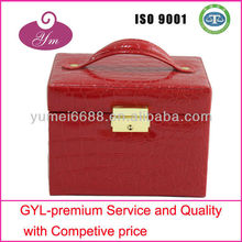 Hot sell! Red leather cosmetic case