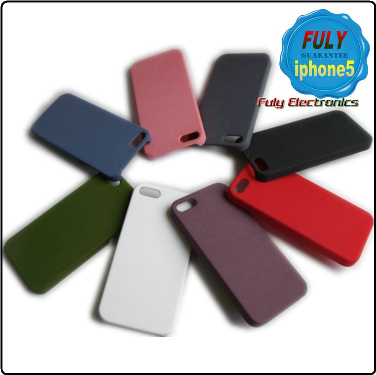 High quality Quicksand frosted hard plastic Matte case for iphone 5 5S 4 4S
