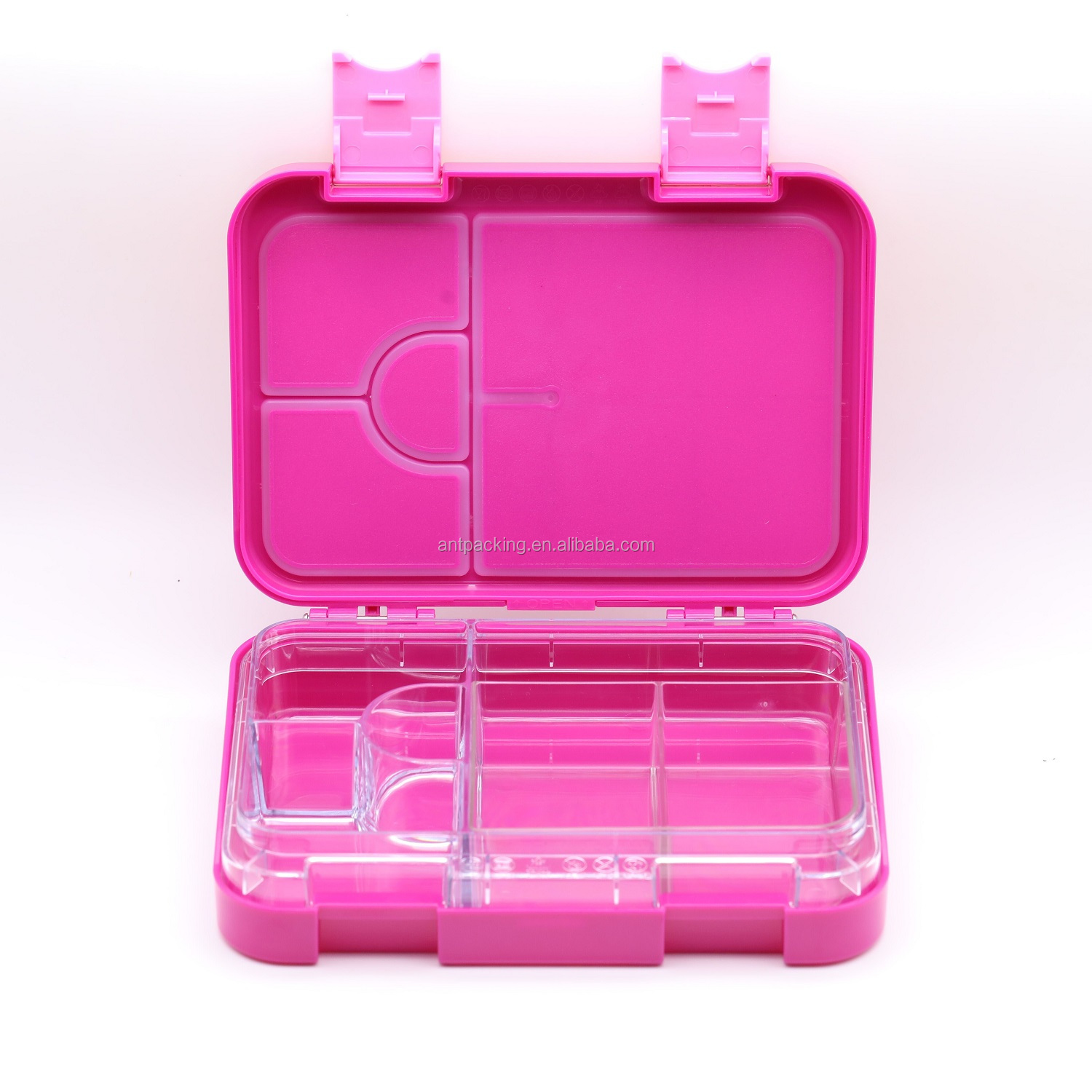 Nontoxic and  Easy to Clean with removable 6 compartment food insert for kids lunch box
