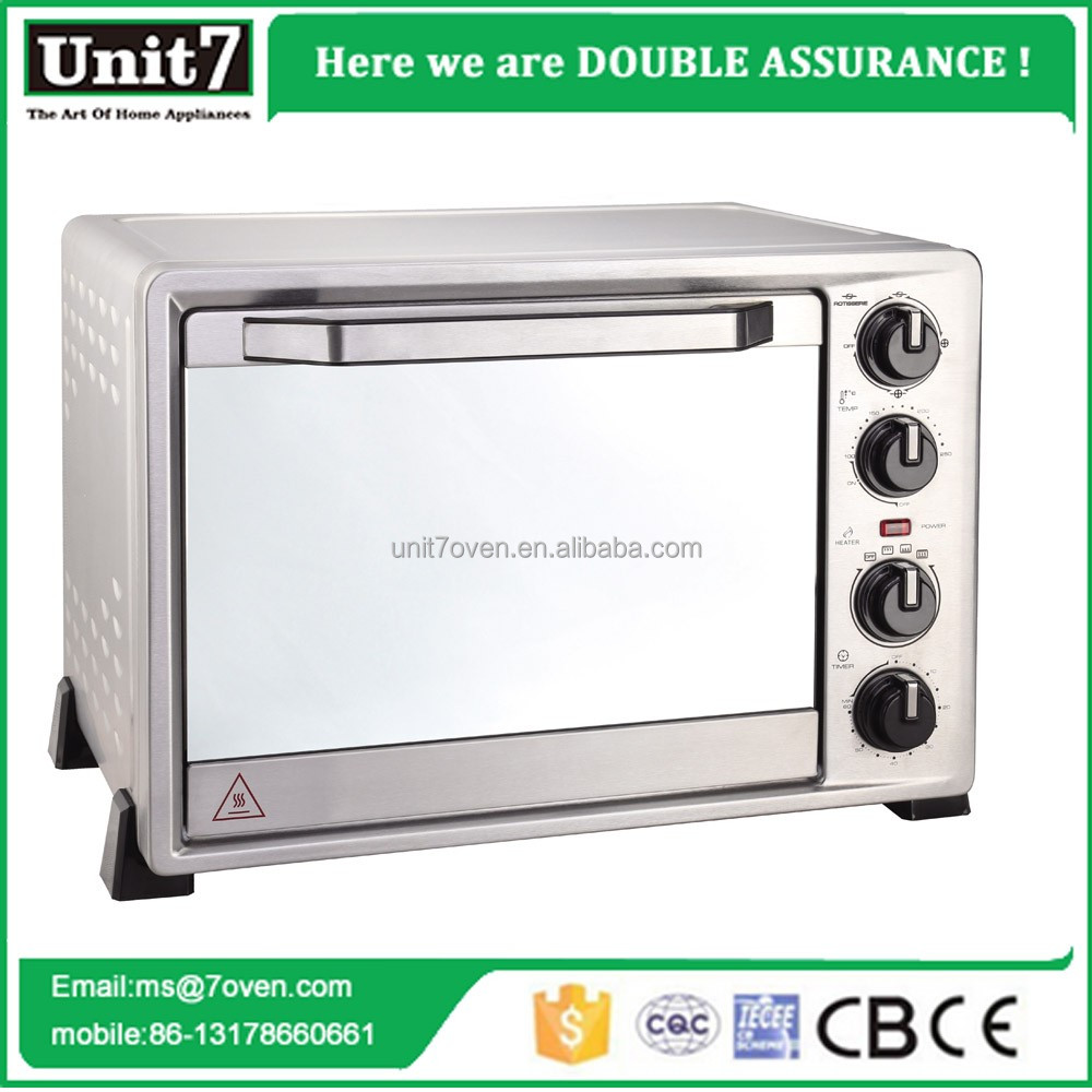 36L convection oven glass toaster hot sell stainless steel heating element electric oven