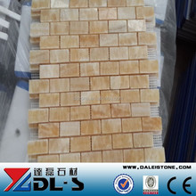 Yellow Onyx Mosaic Tile Marble Tile Price for Bathroom Tile and Marble Floor Design Pictures