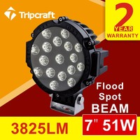 Led Ramper 7 inch 51w 4x4 offroad led work light for Atv Motorcycle