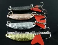Fishing Spoon Lures 5.5CM 8.5G Hard Bait fly bass fishing gear salt water sea fish 4colors (SP003)