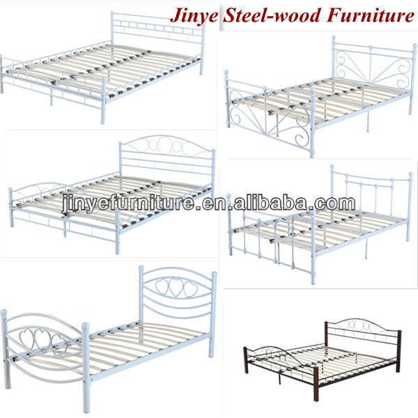nieuwe dubbele metalen bed frame slaapkamer meubels product