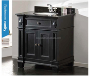 Black Granite Undermount Single Sink Poplar Bathroom Vanity SA-4806
