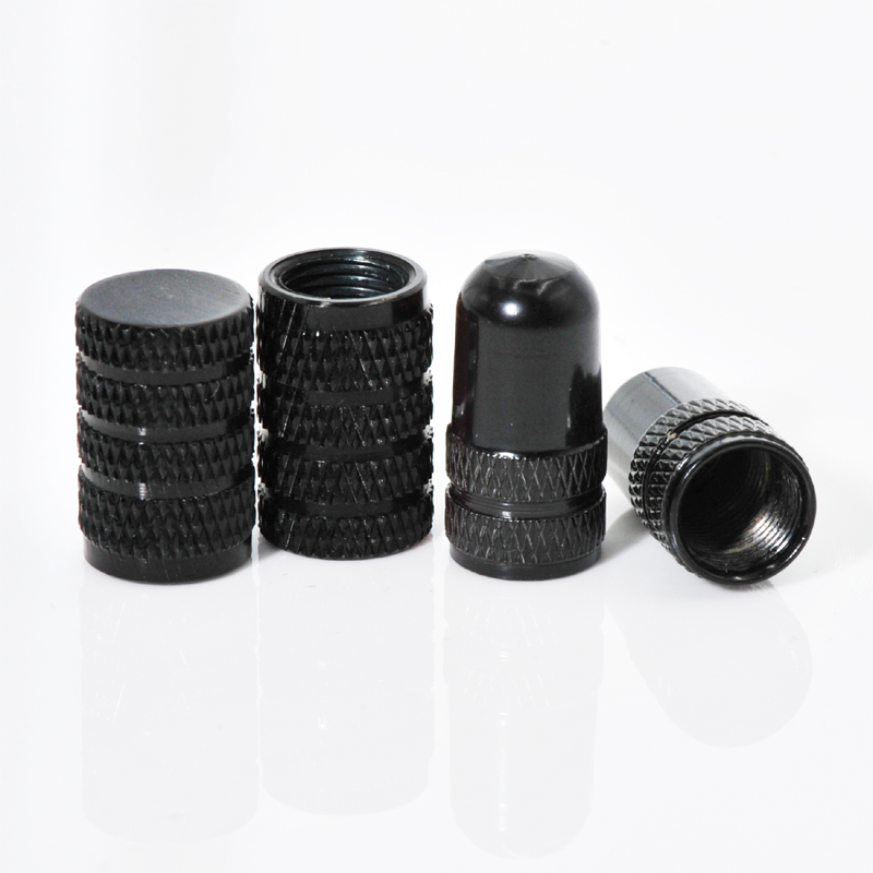Wholesale black tyre valve stem caps / custom logo dust car tire valve caps